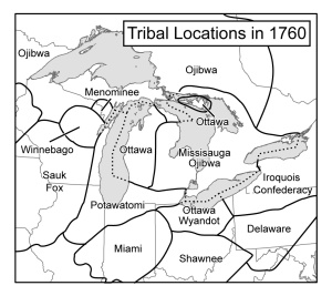 Great Lakes tribes circa 1760