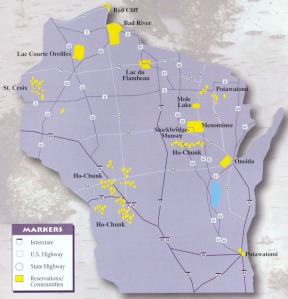 Current Wisconsin Indian land holdings